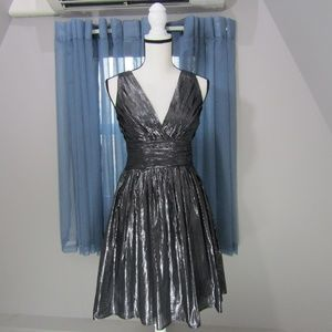 CHIC SILVER COCKTAIL DRESS!
